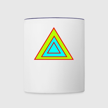 triangle - Contrast Coffee Mug