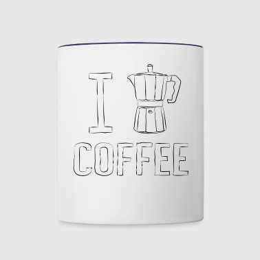I Coffee - I heart Coffee - Contrast Coffee Mug