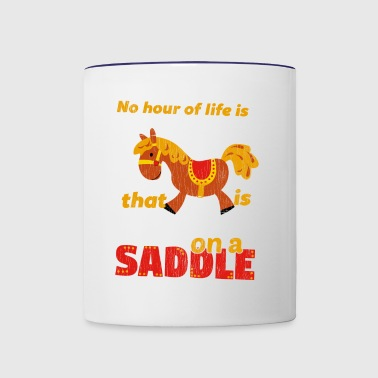 Spend on a Saddle - Contrast Coffee Mug