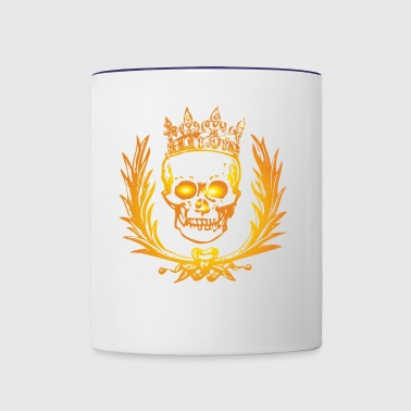 Skull With Crown - Contrast Coffee Mug