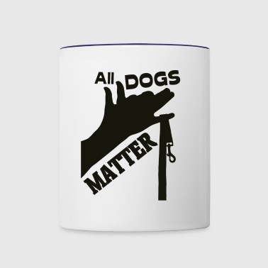 all dogs matter - Contrast Coffee Mug