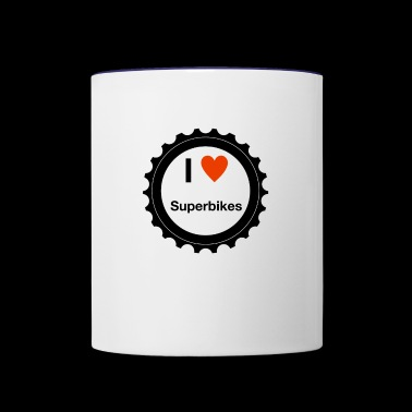 I Love Superbikes - Contrast Coffee Mug