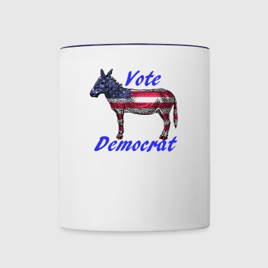 Vote Democrat - Contrast Coffee Mug