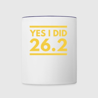 Yes I Did 26.2 Boston Marathon - Contrast Coffee Mug