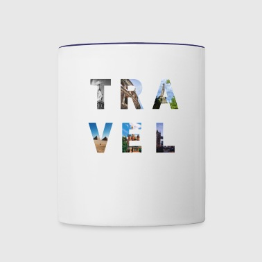 TRAVEL Destinations - Contrast Coffee Mug