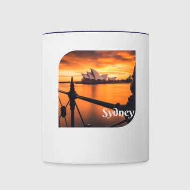 Sydney at Sunset by Pozz - Contrast Coffee Mug