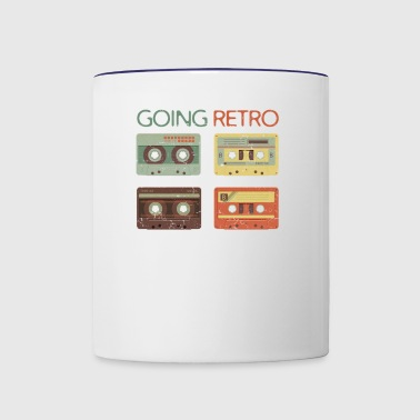 GOING RETRO CASSETTE TAPES - Contrast Coffee Mug