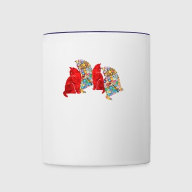 group of cats - Contrast Coffee Mug