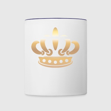Monarch king gold Crown vector Vip illustration - Contrast Coffee Mug