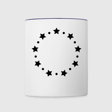 STARS CIRCLE MONOGRAMS FRAMES - Contrast Coffee Mug