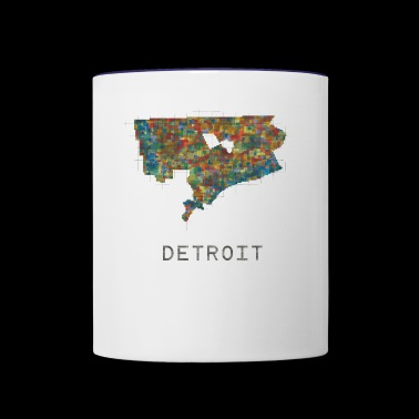 detroit - Contrast Coffee Mug
