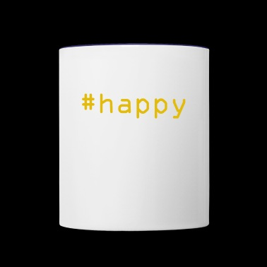 #happy - Contrast Coffee Mug