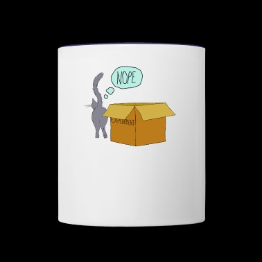 clever cat - Contrast Coffee Mug