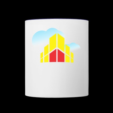 Building In The Clouds - Contrast Coffee Mug