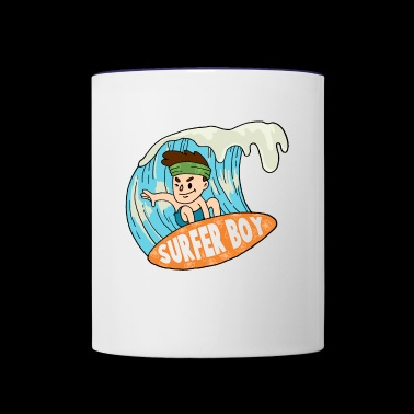 Surfer - Contrast Coffee Mug