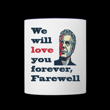 Anthony Bourdain -FareWell- - Contrast Coffee Mug