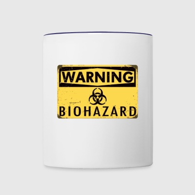 Warning Biohazard - Contrast Coffee Mug