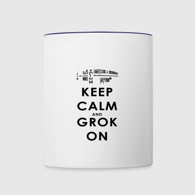 Keep Calm and Grok On - Contrast Coffee Mug