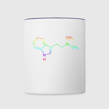 DMT dimethyltryptamine structural formula - Contrast Coffee Mug