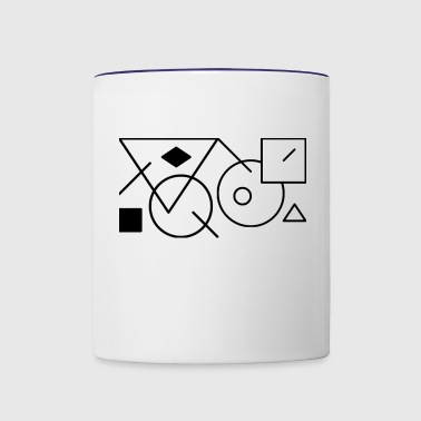 Shapes3 - Contrast Coffee Mug