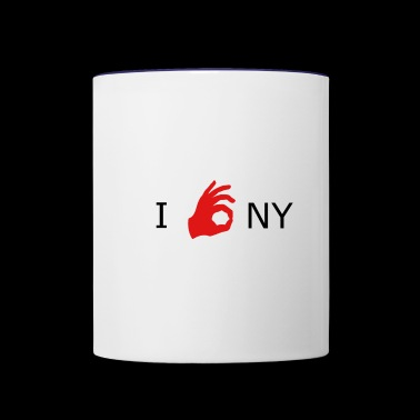 NY is OK - Contrast Coffee Mug