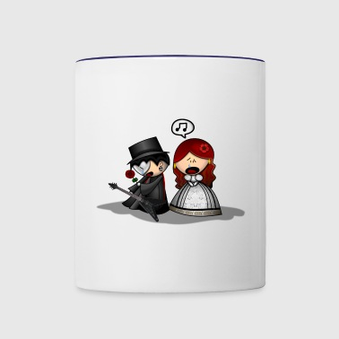 The Phantom Of The Opera Cute Cartoon - Contrast Coffee Mug