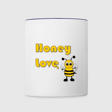 Honey Love with Honey Bee - Contrast Coffee Mug