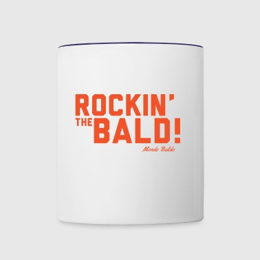 Rockin' the Bald! - for the Bald and Proud® - Contrast Coffee Mug