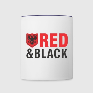 Albanian eagle red and black - Contrast Coffee Mug