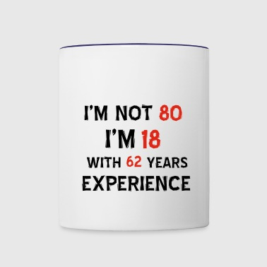 80th year old birthday designs - Contrast Coffee Mug