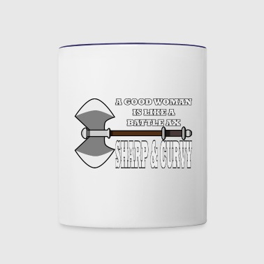 Sharp and Curvy - Contrast Coffee Mug