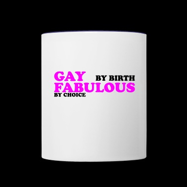 GAY BY BIRTH - Contrast Coffee Mug