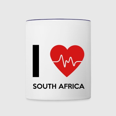 I Love South Africa - Contrast Coffee Mug