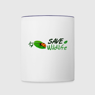 Save Wildlife - Contrast Coffee Mug