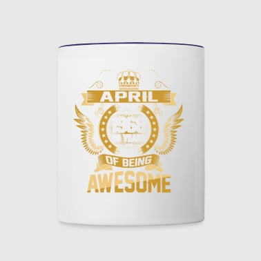 April 1968 50 Years Of Being Awesome - Contrast Coffee Mug