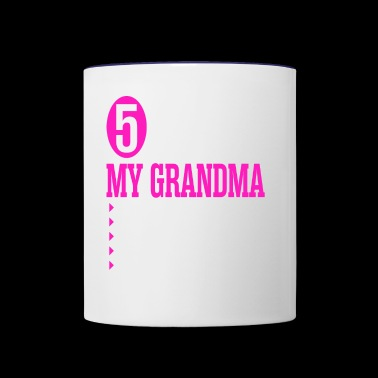 5 Things About My Grandma - Contrast Coffee Mug