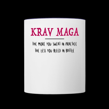 Krav Maga Self Defense Quote - Contrast Coffee Mug