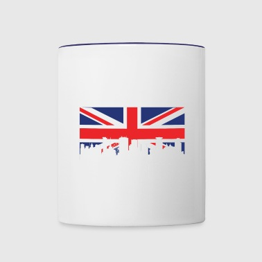 British Flag Birmingham Skyline - Contrast Coffee Mug