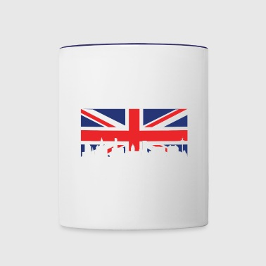 British Flag Liverpool Skyline - Contrast Coffee Mug