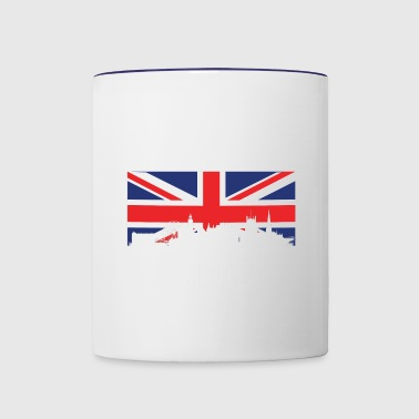 British Flag Sheffield Skyline - Contrast Coffee Mug