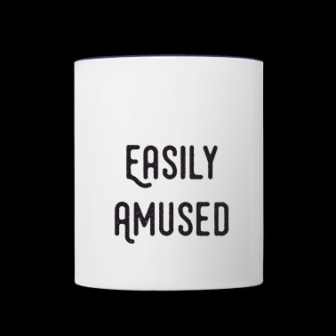 Easily Amused - Contrast Coffee Mug