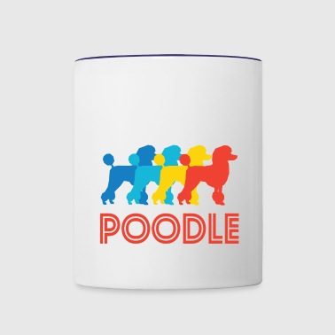 Poodle Pop Art - Contrast Coffee Mug