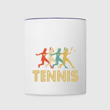 Tennis Player Pop Art - Contrast Coffee Mug