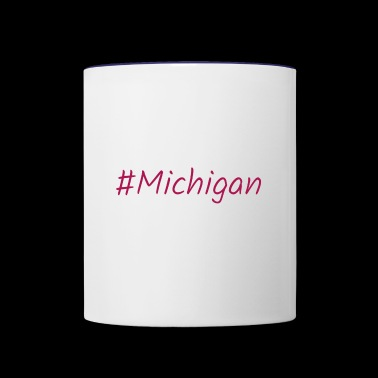 #Michigan - Contrast Coffee Mug