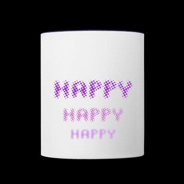 Happy Happy Happy - by Fanitsa Petrou - Contrast Coffee Mug