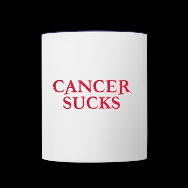 Cancer SUCKS - Contrast Coffee Mug
