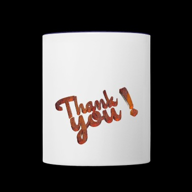 Thank you - Contrast Coffee Mug