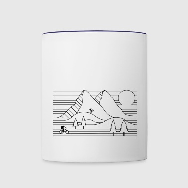mountain bike mountain biking cycling - Contrast Coffee Mug
