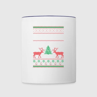 Not Santa But You Can Sit On My Lap Ugly Christmas - Contrast Coffee Mug