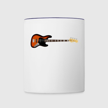 bass guitar - Contrast Coffee Mug